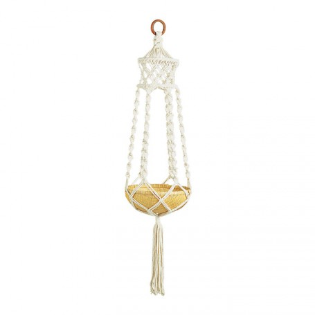 SUSPENSION POT DE FLEURS EN MACRAMÉ